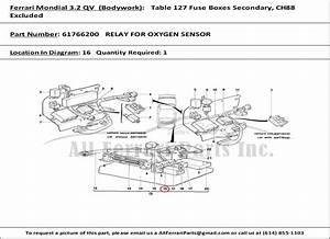 Ferrari Part Number 61766200 Relay For Oxygen Sensor