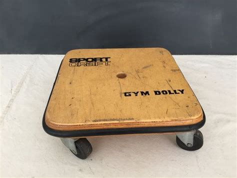 vintage sport craft gym dolly wood scooter