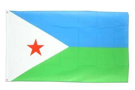 Flying Flag Of Djibouti