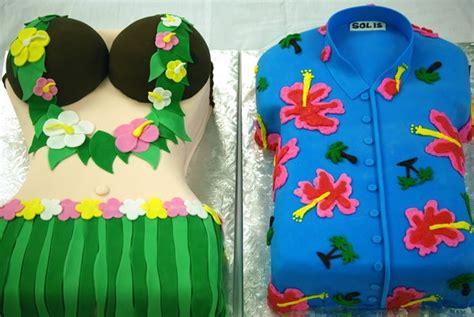luau cakes ideas  pinterest hawaiian party