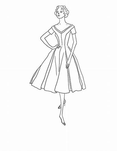 Coloring Pages Printables Retro Theme Clothes Sheet