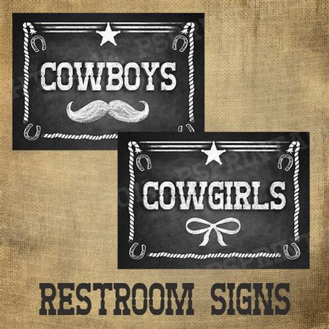 printed cowboy amp cowgirl signs for your wedding or western
