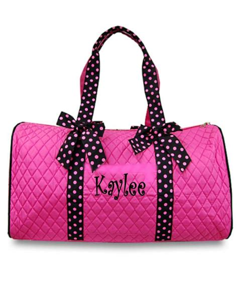 personalized girls duffel bag pink black great dance gym