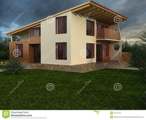 la maison avec le toit en pente photo stock image 21131770