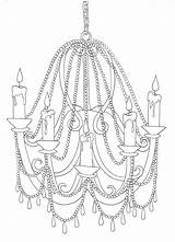 Chandelier Drawing Line Light Sketch Template Bright Coloring Pages Getdrawings March sketch template
