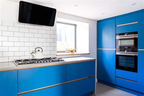 Electric Blue Modern Kitchen