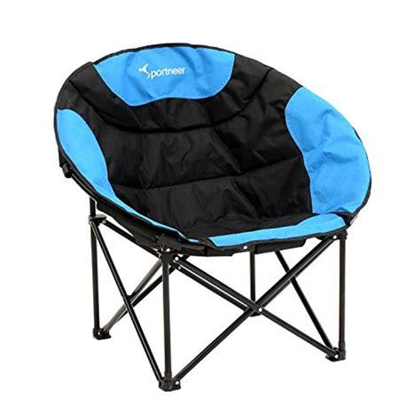 folding moon saucer chair sportneer moon saucer lightweight folding cing chair