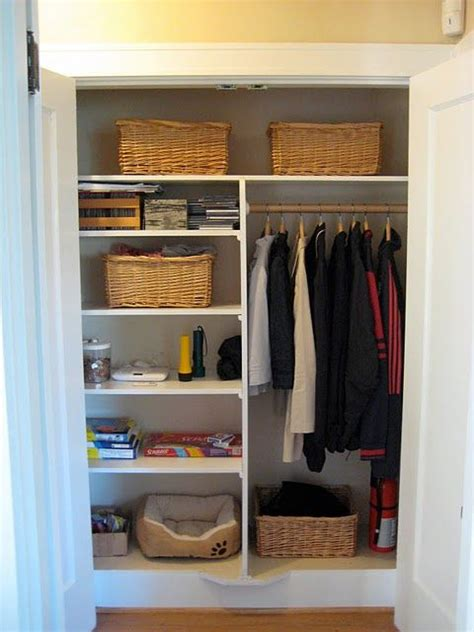 Small Hallway Closet Organization Ideas by Closet Do Something Like This With The Closet