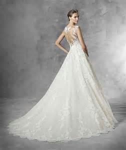 robe mariã e dentelle a ligne de robe de mariée en tulle avec dentelle guipure et applications robe de mariée