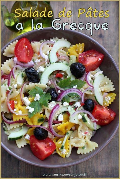 cuisine grec 1000 idées sur le thème salades de pates grecques sur