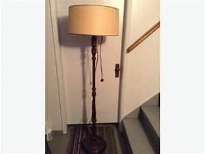 Vintage wooden floor lamp saanich victoria for Used retro floor lamp