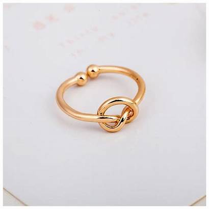 Simple Ring Rings Knot Adjustable Open Erbana88