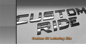 autobadgez badges emblems 3d chrome letter kits and With custom car badge lettering