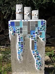 Mein Nachmittag Blumendeko : meriseimorion mosaik und beton deko basteln part 55 ~ Buech-reservation.com Haus und Dekorationen