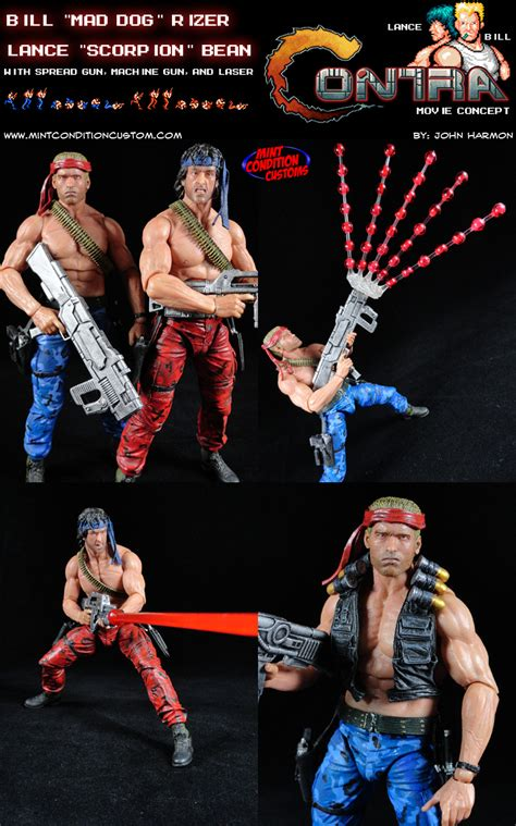 Custom Contra Arcade Game Mad Dog And Scorpion Movie