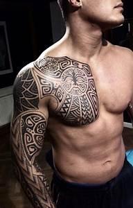Tattoos Schulter Oberarm Frau : 40 schulter tattoo ideen f r m nner und frauen tattoos pinterest tattoo ideen ~ Frokenaadalensverden.com Haus und Dekorationen