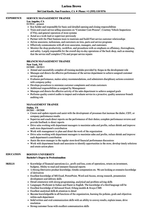 sample cover letter  management trainee fresh graduate