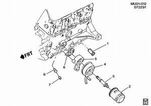 Pontiac Trans Sport Gasket  Engine Oil Cooler  Engine Oil