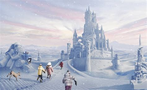 chateau de neige photoshop tuto