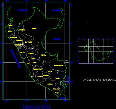 map peru  utm coordinates dwg full project  autocad