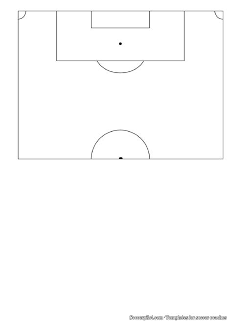 soccer  pitch field template printable