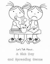 Sick Coloring Pages Child Kid Popular sketch template