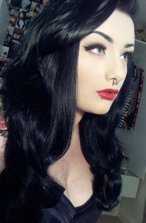 With Black Hair by Zowie Get Your V On With This Wavy Hairdo