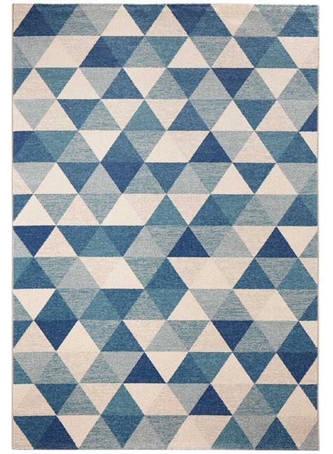 tapis salon scandesign bleu