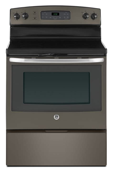 best electric kitchen ranges ge 5 0 cu ft freestanding smooth top electric range slate the brick