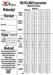 Home Gym Workout Routine Chart