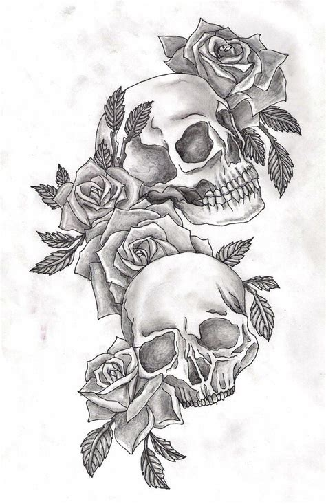 skulls  roses  adler skull art tattoos skull tattoos tattoo design drawings