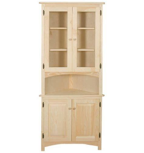 unfinished furniture hutch amish unfinished solid pine corner hutch china cabinet