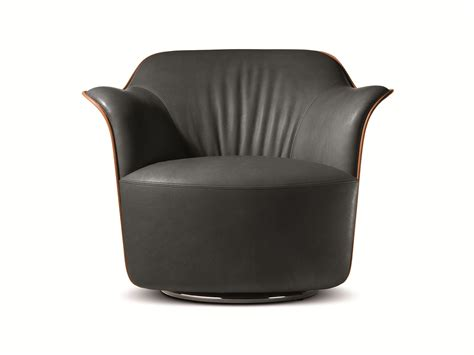 Poltrona Frau Leather : Aida Tanned Leather Armchair By Poltrona Frau Design