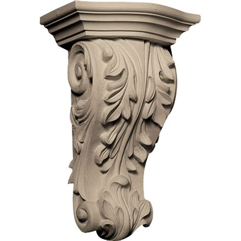 Resin Corbel by Cb 302 Acanthus Leaf Resin Corbel By Architectural Depot