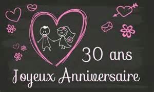 mariage 30 ans carte anniversaire mariage 30 ans tableau