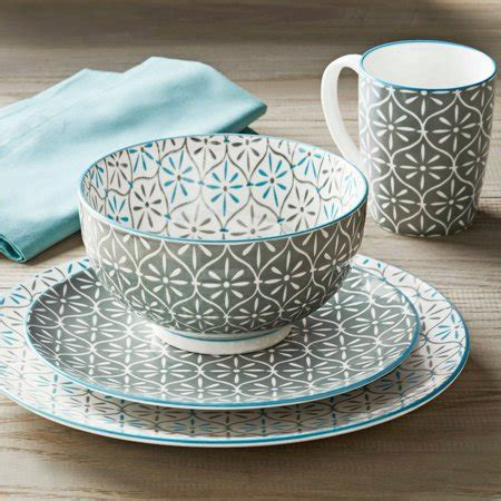 better homes and gardens dinnerware better homes and gardens piers gray mix and match 16