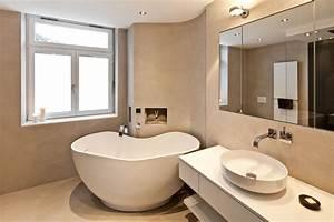 Badezimmer Mit Freistehender Badewanne : kleines badezimmer mit freistehender badewanne raumfabrik ~ Bigdaddyawards.com Haus und Dekorationen