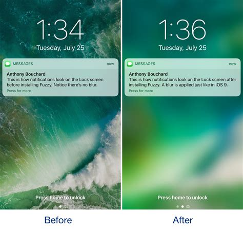Lock Screen Background Fuzzy Blurs The Lock Screen Background When You