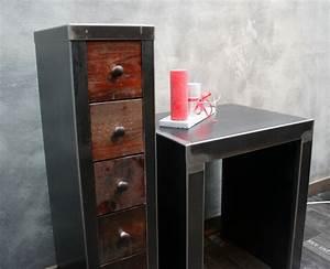 Meuble Colonne Tiroir : colonne de rangement m tal avec tiroirs meuble design ~ Teatrodelosmanantiales.com Idées de Décoration