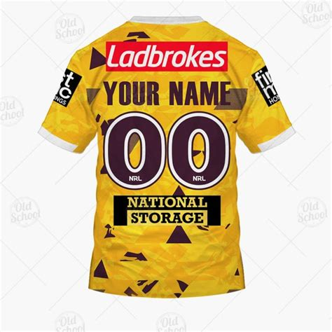 Get deals with coupon and discount code! Personalise NRL Brisbane Broncos 2021 Alternate Jersey - GearShop