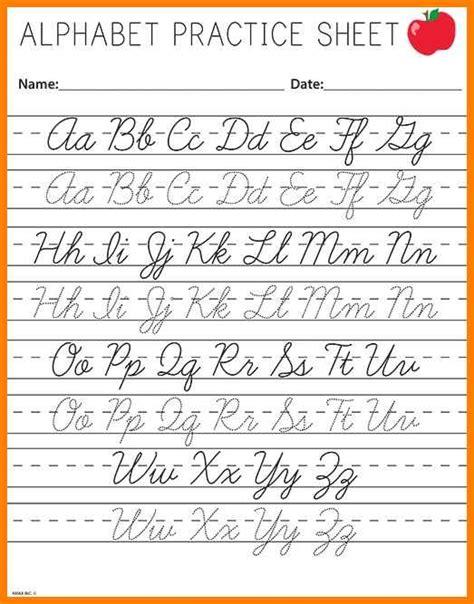 cursive letters az 2 unіquе cursive letters az 2 worksheet cursive alphabet 10336