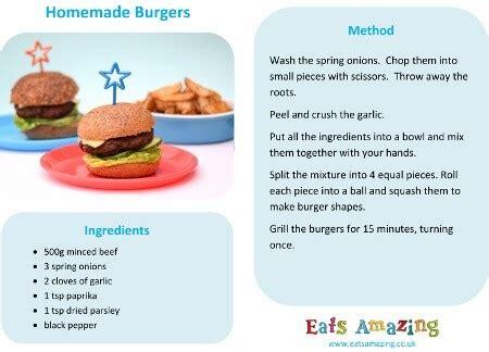 recipes for preschoolers to make easy burgers recipe 925