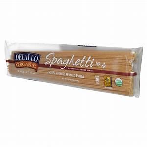 DeLallo, Spaghetti No. 4, %100 Organic Whole Wheat Pasta ...