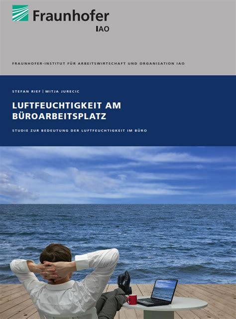 Trockene Luft Im Winter by Trockene Luft Im Winter Fraunhofer Best 228 Tigt Einfluss