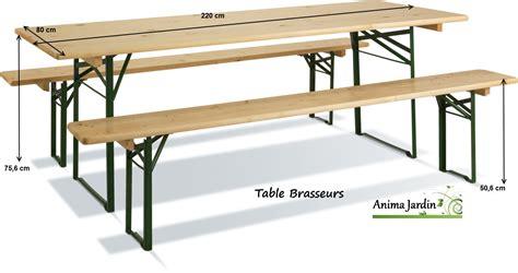 table banquet pliable avec bancs en bois et m 233 tal set brasseurs
