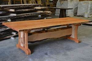 Hand Crafted Live Edge Cherry Dining Table With Live Edge