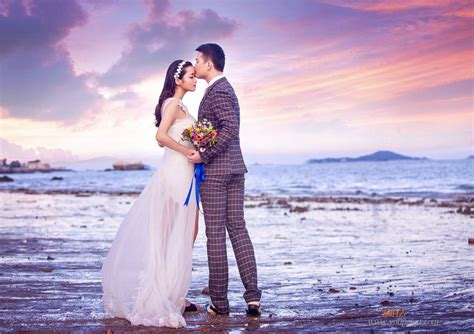 30张海边浪漫婚纱照图片,海景婚纱照也是明星最爱_唯美婚纱照