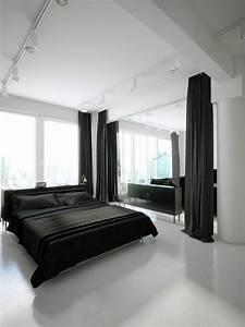 D U00e9co Noir Et Blanc Avec Touches De Couleur Chambre  U00e0 Coucher