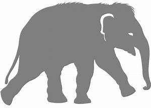 Baby Elephant Silhouette | Free vector silhouettes