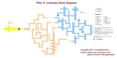 Digimon World 3 Undersea Base Magasta Map Png Final